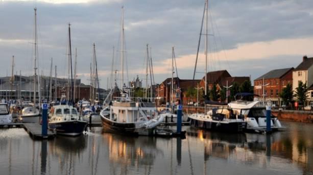Boats at Hull marina