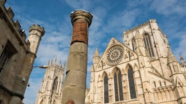 Roman Column and York Minster