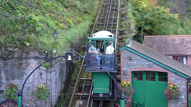 The Victorian cliff railway at Lynton is celebrating its 125th anniversary