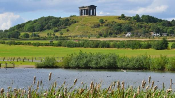 View of Penshaw Monument from Herrington Country Park