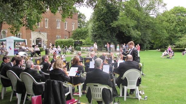 Hertford Castle brass band concert