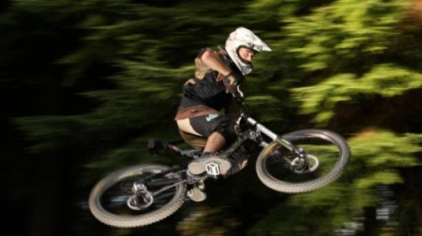Mountain bike jumps in the Forest of Dean