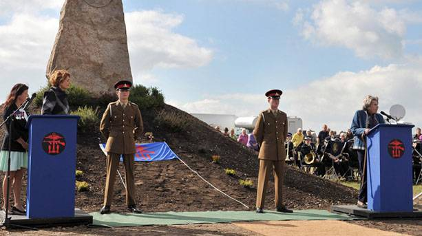 Dedication of the COPP memorial on Hayling Island