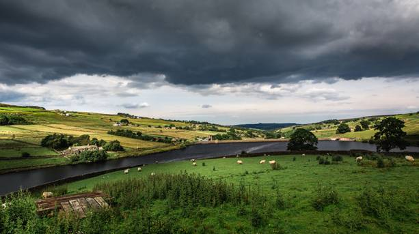The moody moorlands at Ponden Hall