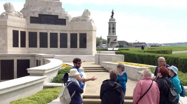 Beginning of the War Memorial Trail