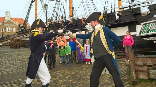 Re-enactment at Hartlepool's Maritime Experience