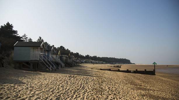 Beach huts on Holkham beach