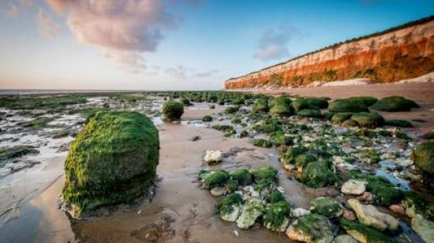 The beach and famous cliffs at Hunstanton