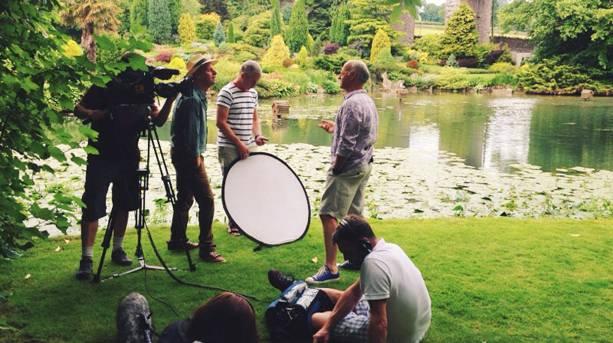 Roger filming BBC gardeners world June 2014.
