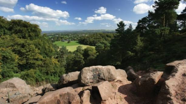 Views from The Edge at Alderley Edge, Cheshire