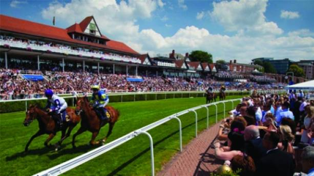 Horses Racing at Chester Racecourse, Cheshire