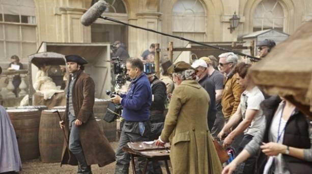 Poldark being filmed on Corsham High Street