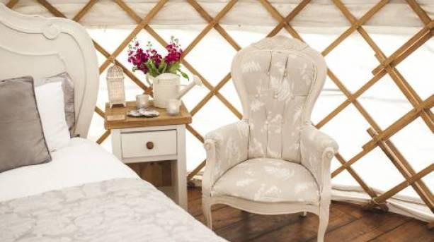 Secret Cloud House Holidays' yurt