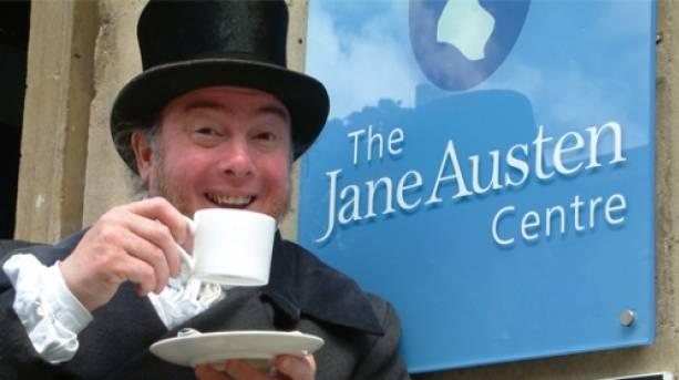 Outside the Jane Austen Centre