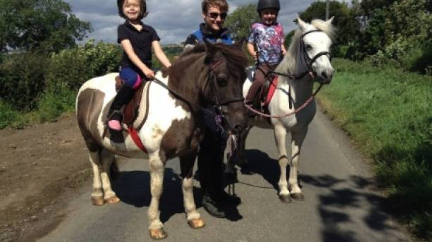 Pony trekking from the Snainton indoor riding centre
