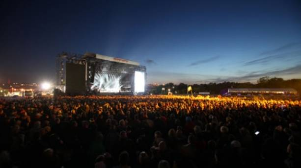 Isle of Wight Festival Main Stage at Sundown