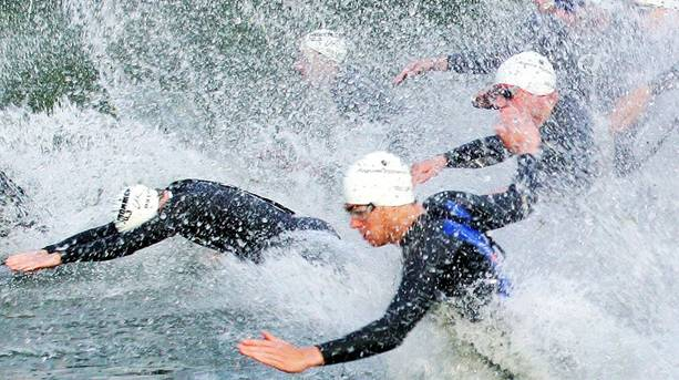 Ironman competitors take the plunge!