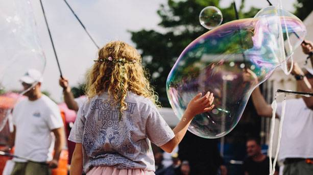 Bubbles at Isle of Wight Festival