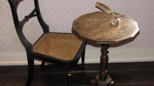 Jane Austen's writing table at Jane Austen's House Museum