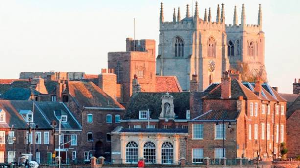 King's Lynn waterfront and King's Lynn Minster