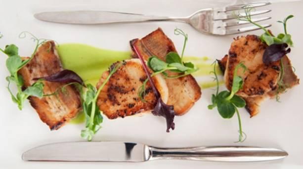 A plate of food at Kitchen Garden Restaurant