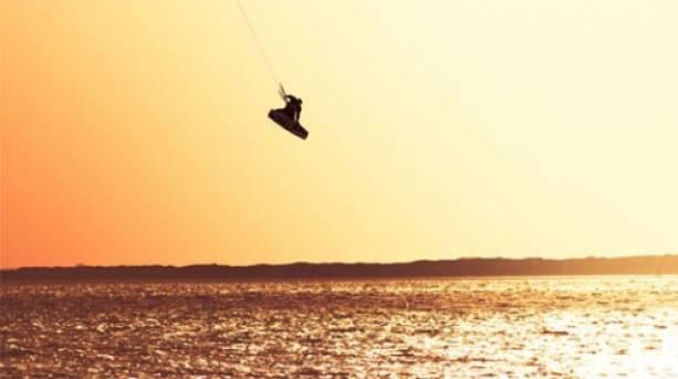 Kitesurfing off Lee-on-the-Solent