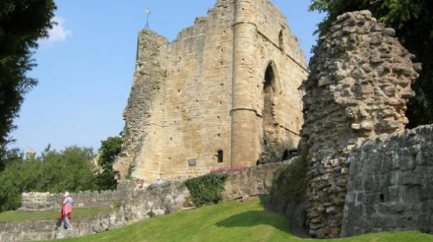 Knaresborough Castle ruins