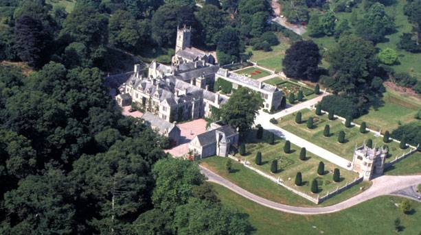 Aerial view of Lanhydrock House & Garden