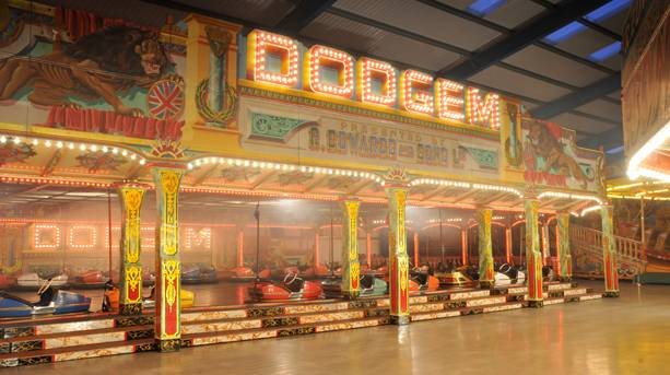 Largest Dodgem Track in Britain at Dingles Fairground
