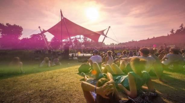 A festival goer at Latitude