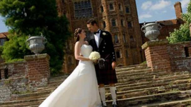 Spectacular backdrop for perfect wedding pictures