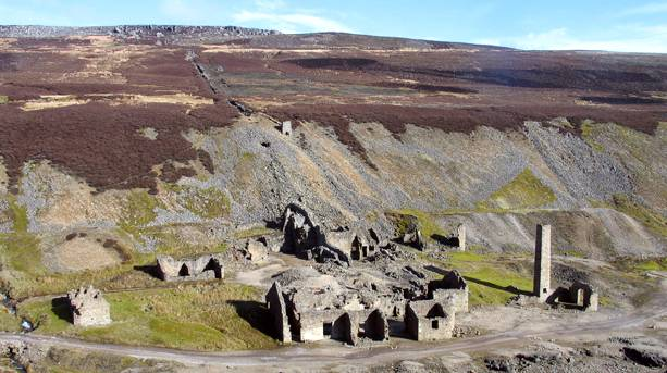 The remains of the lead mining industry on the coast in Swaledale