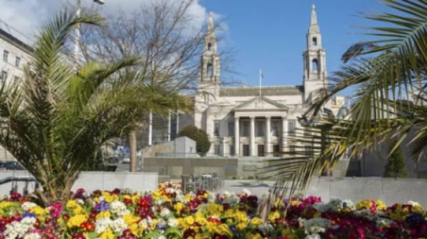 Civic Hall and Nelson Mandela Gardens, Leeds