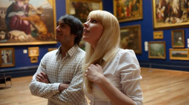Couple looking in Leeds Art Gallery