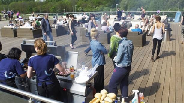 Tuck into the BBQ on the terrace overlooking the course