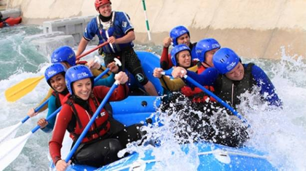 Tackle the Olympic course rafting the rapids in Lee Valley