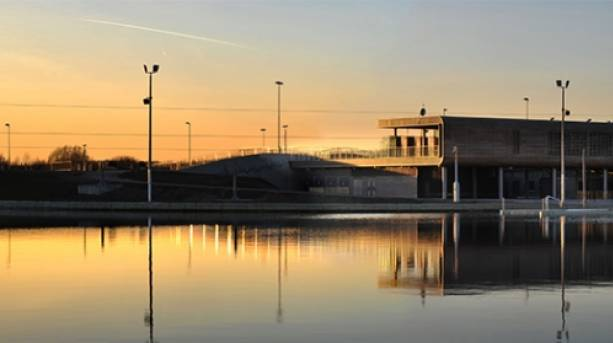 Enjoy stunning sunsets at Lee Valley White Water Centre