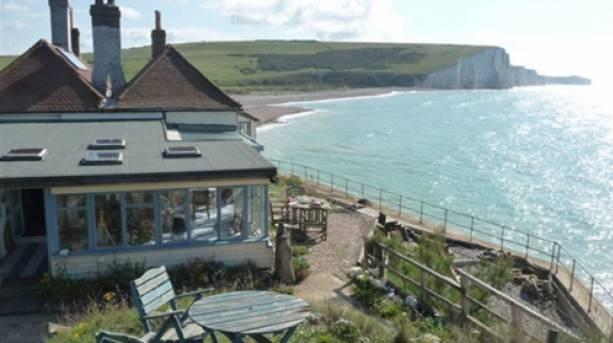Coastguard Cottages overlooking the coast