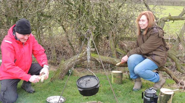 Family Bushcraft Day at Humblescough Farm, Lancashire