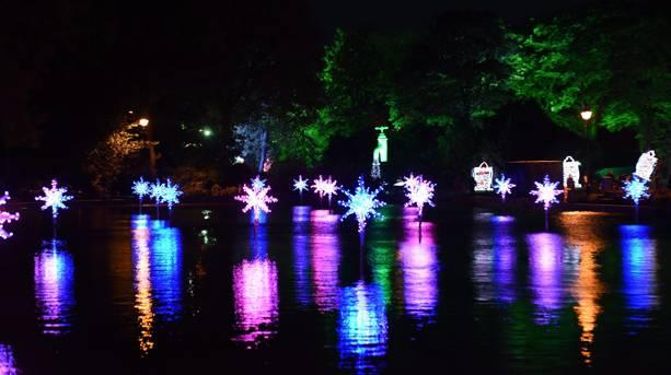 Lights in the lake at Sunderland Illuminations