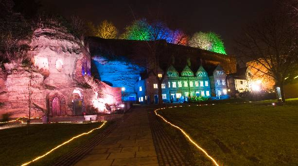Nottingham's Brewhouse Yard Aglow