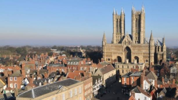 Lincoln Cathedral looking over the city