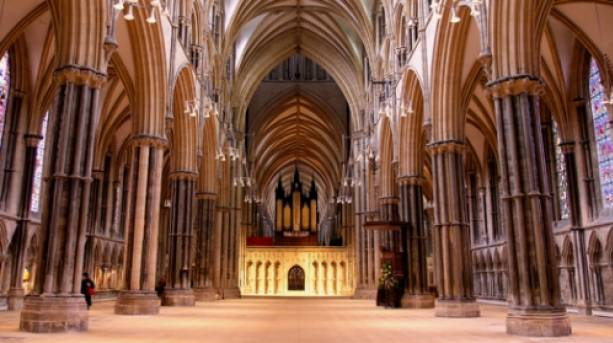 The Lincoln Cathedral nave