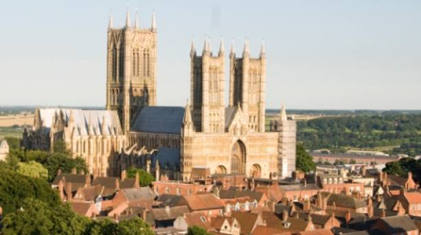 Lincoln Cathedral looks over the city of Lincoln