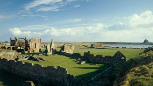 Lindisfarne from distance