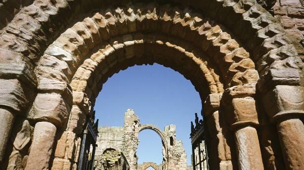 Archways of Lindisfarne Priory