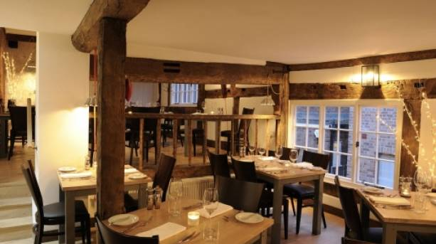 Cosy dining room at Lion & Pheasant Hotel