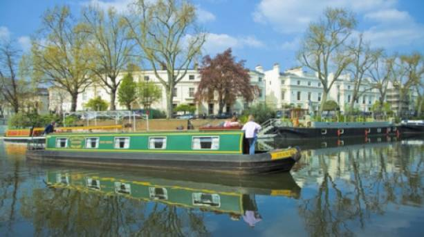Boat on the canal at Little Venice
