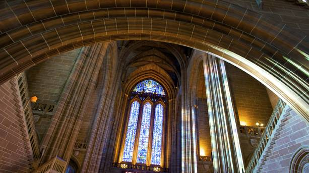 Interior view of Liverpool Anglican Cathedral