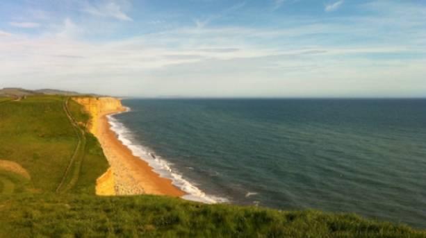 The local beach at near Norburton Hall in Dorset